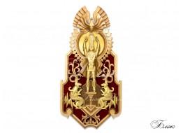 Панно «Золотой человек с птицей счастья Самрук»